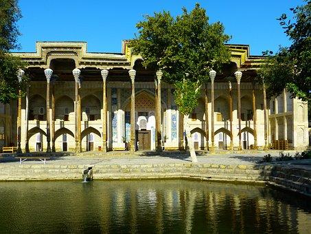Bolo Hauz, Mosque, Columnar, Wood Carving, Water Basin