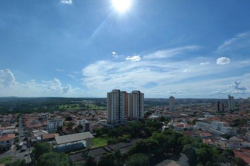 Landscape, Vista, Bauru, Sky, Sol, Buildings, Brazil
