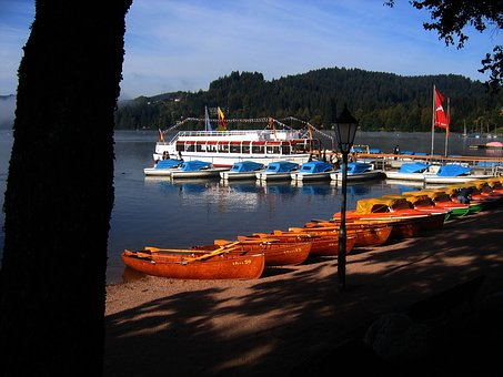 Ferry, Boats, Dock, Port, Beach, Lake, Black Forest