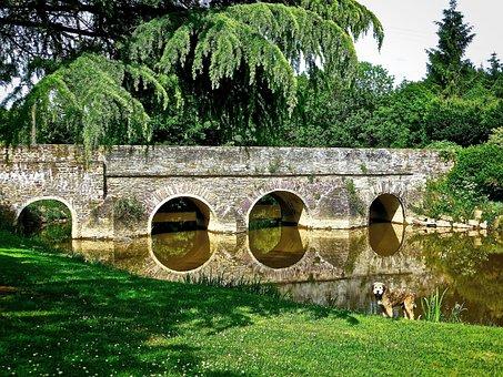 Bridge, Ploermel, Arches, Stone, River, Architecture