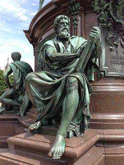 Bronze Statue, Man, Anitik, Patina