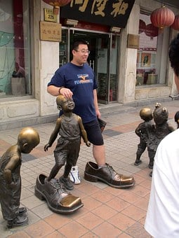Chinese, Man, Human, Person, China, Shoe Test, Fitting