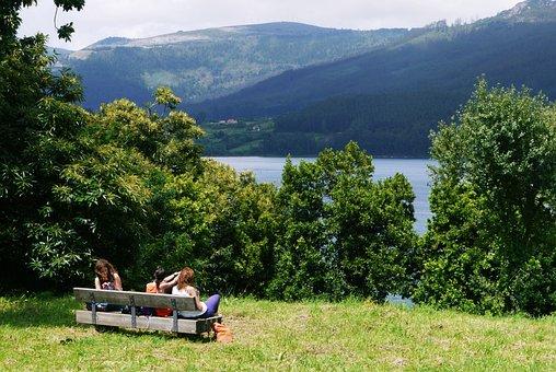 Ortigueira, Landscape, Costa, Sea, Galicia, Bank, Watch