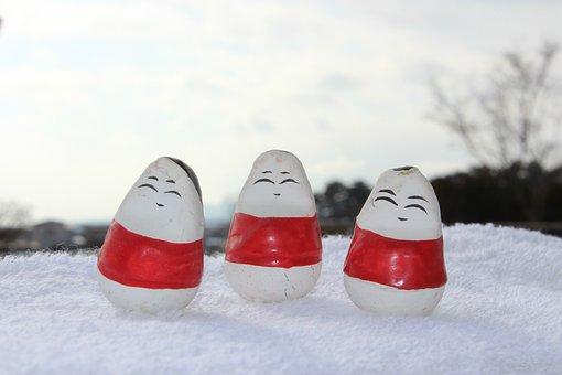 Fukushima, Okiagari-koboshi, Wakamatsu, Wintry Weather