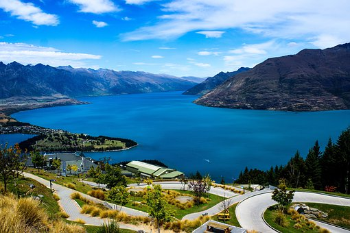 Lake Wakatipi, New Zealand, Queenstown, Gondola, Summer