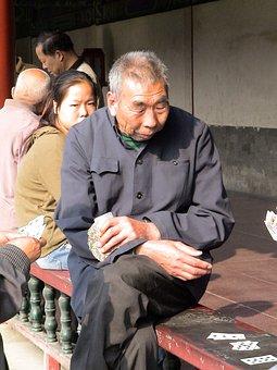 Human, Man, Person, Sit, Tiantian Park, Card Game, Play