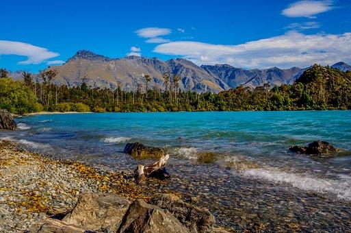 Bob's Cove, New Zealand, Lake, Mountains, Outside