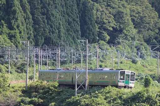 Ou Main Line, Train, Ozaso District, Mountainous