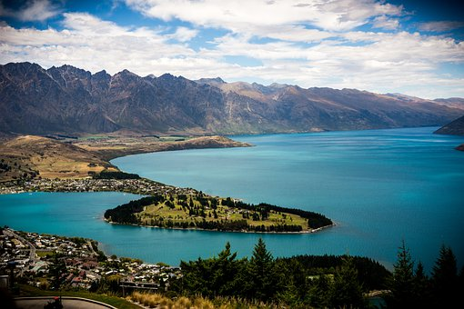 Queenstown, New Zealand, Lake Wakatipu, Ocean, Sea