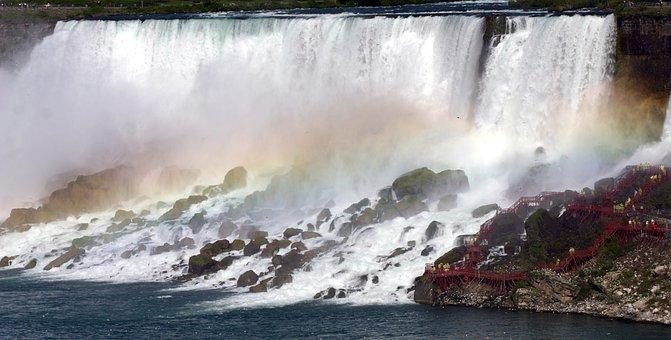 Niagara Falls, Water, Nature, Tour, Mist, Rainbow