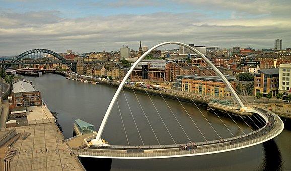 Newcastle, Tyneside, Gateshead, Tyne, River, Bridges