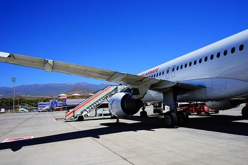 Airport, Tenerife, Runway, Aircraft, Arrival, Land