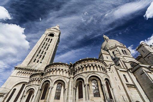 Paris, Montmarte, Sacred Heart Basilica, France, Europe