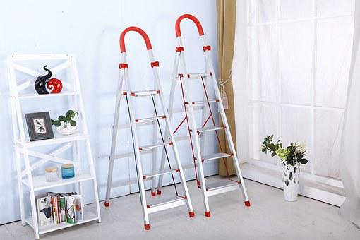 Folding Ladder, Stainless Steel, Safety Ladders