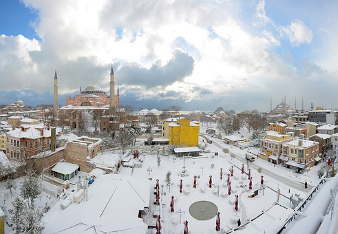 Aya Sofia, Sultanahmet, Snow