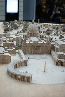 Miniature, The Vatican, Rome, The Basilica, Italy