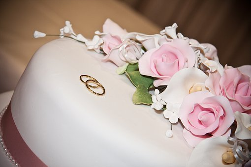 Cake, Decorated, Floral, Roses, White, Pink, Flowers