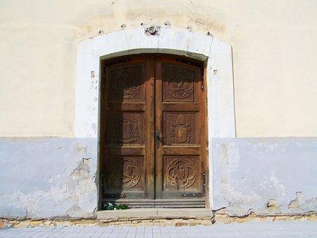 Old Wooden Door, Paneled Doors, Ancient