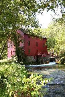 Ozarks, Missouri, Mill, Building, Architecture, Nature