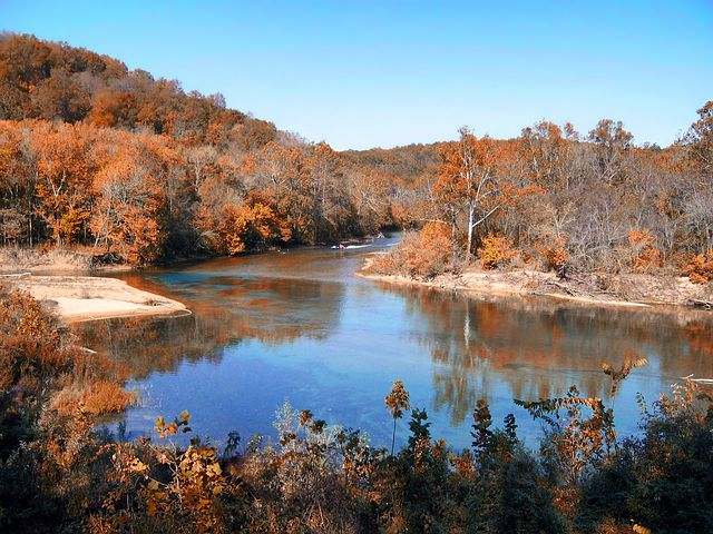 Missouri, River, Water, Reflections, Fall, Autumn