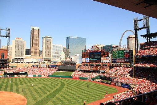 St Louis, Missouri, Arch, Usa, Baseball, Busch Stadium