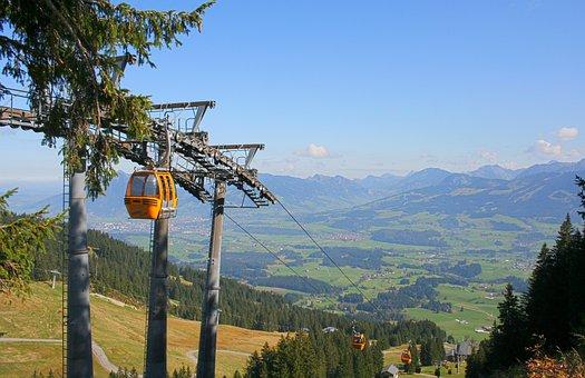 Allgäu, Bavaria, Alpine, Mountains, Sky