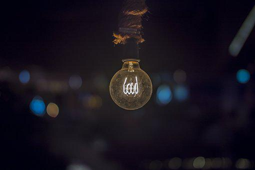 Electricity, Bulb, Light, Bright, Glowing, Power