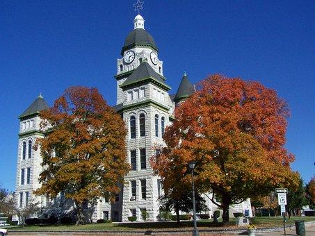 Building, Famous, Architecture, Autumn, Leaves, Foliage