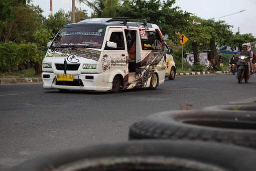 Padang, Public Transport, Indonesia, Car Modification