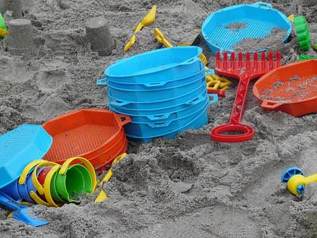 Toys, Sand, Sand Toys, Digging, Play, Children Holiday