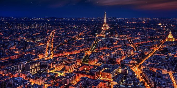 Paris, France, Eiffel Tower, Night, Night Paris, City