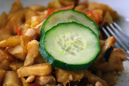 Cucumber, Main Course, French Fries, Potato, Lunch