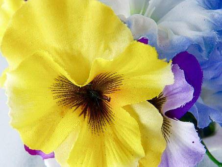 Flowers, Petals, Decoration, Yellow, Artificial, Cloth