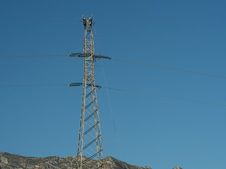 Electrical Tower, Electricity, Workers, Electricians