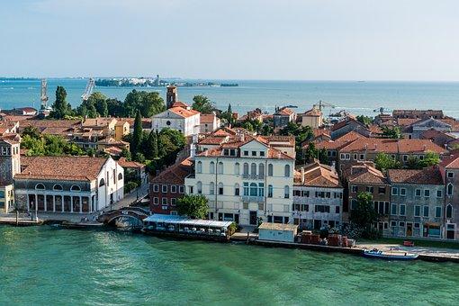 Venice, Italy, Coastline, Canal, Europe, Water, Travel