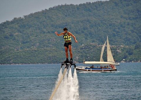 Flyboarding, Water Sport, Extreme, Jets, Fun