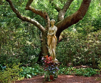Garden Sculpture, Statue, Woman, Goddess, Mythical