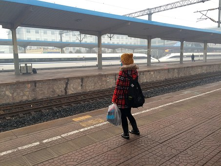 Girls, Train Station, Train, Train Crash