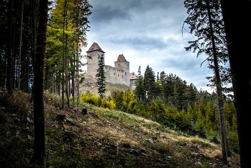 Castle, Old, Ruins, View, Historical, History