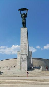 Citadella, Budapest, Hungary, Hungarian, Statue, Column