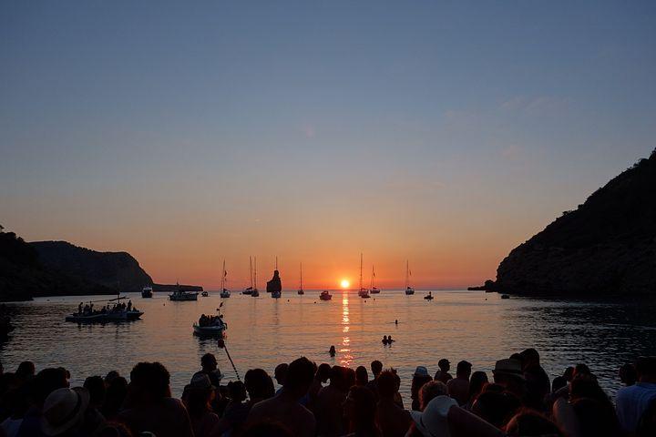 Cala Benirras, Ibiza, Sunset, Sea, Balearic