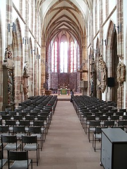 Stiftskirche, St Arnual, Interior, Church, Chairs