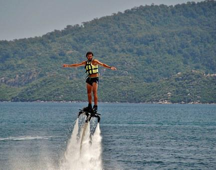 Flyboarding, Water Sports, Extreme, Sea, Jets