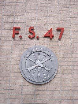 Fire Department, Emblem, Kansas City, Missouri, Usa