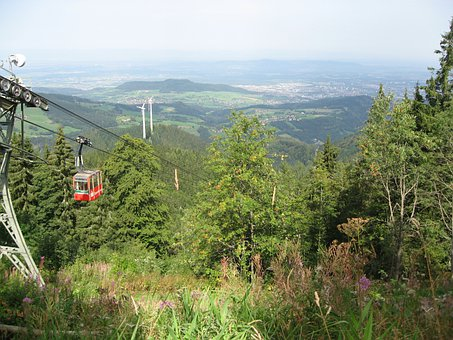 Gondola, Mountain And Valley, Landscape, Black Forest