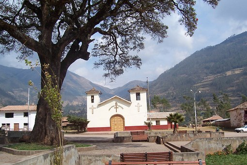Church, Peru, Sky, Mountains, Religion, Spanish