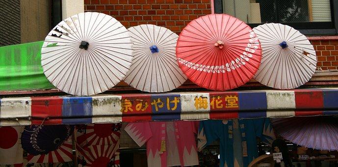 Japan, Tokyo, Asia, Paper Umbrellas