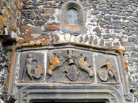 Coat Of Arms, Pierre, Castle, Middle Ages