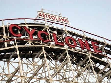 Coney Island, Brooklyn, Roller Coaster, Cyclone