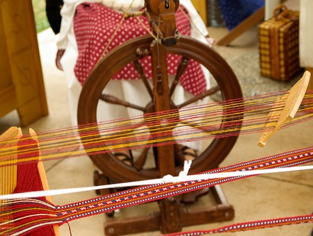 Romania, Wool, Weaving, Spinning Wheel, Museum